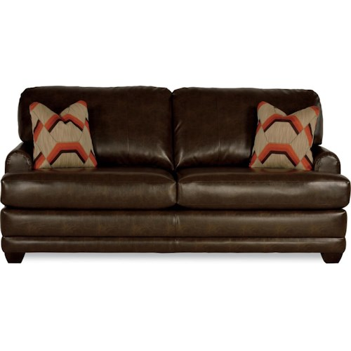 La-Z-Boy Rachel Modern La-Z-Boy®  queen sleeper sofa with flared wood block feet