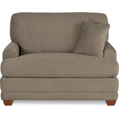La-Z-Boy Rachel Modern La-Z-Boy® twin sleeper sofa with flared wood block feet
