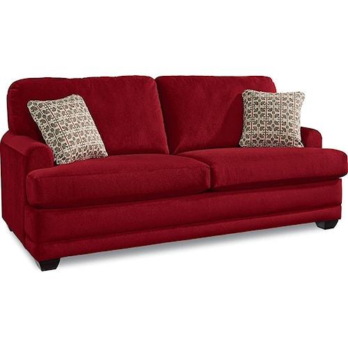 La-Z-Boy Rachel Modern La-Z-Boy® sofa with flared wood block feet