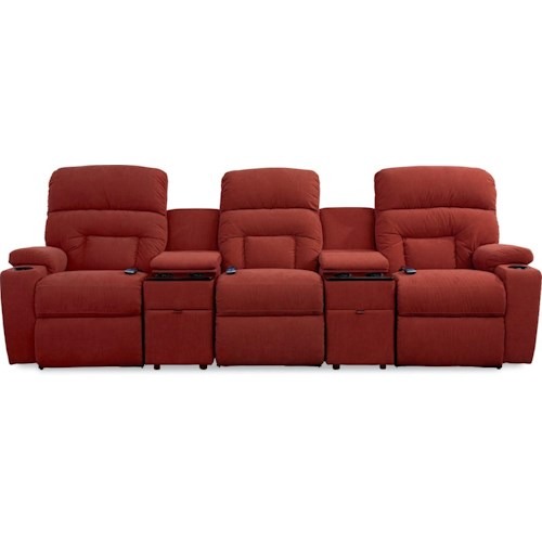 La-Z-Boy Spectator 5 Pc Reclining Home Theater Group with Lighting Cupholders
