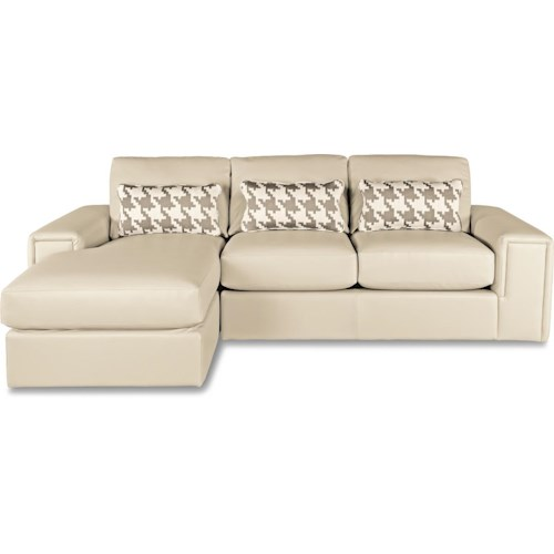 La-Z-Boy Structure Two Piece Modern Sectional Sofa with Architectural Lines and LAF Chaise