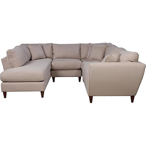 La-Z-Boy Tribeca Contemporary Four Piece Sectional Sofa with RAS Chaise
