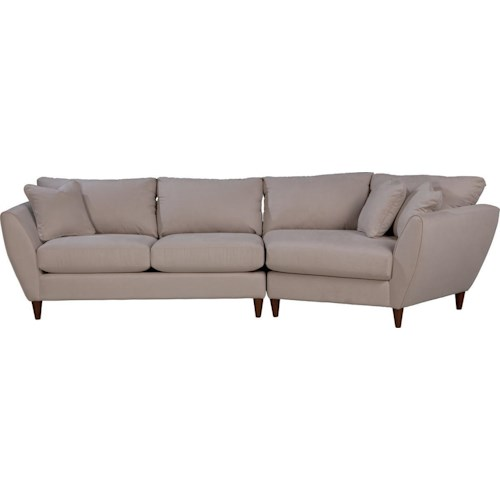 La-Z-Boy Tribeca Contemporary Two Piece Sectional Sofa with LAS Cuddler