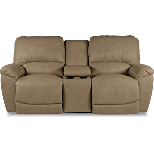 La-Z-Boy Tyler Casual La-Z-Time® Full Reclining Loveseat with Center Console and Cup Holders