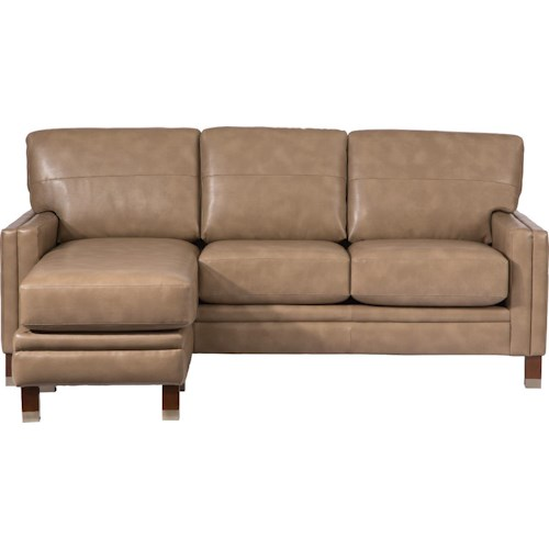 La-Z-Boy UPTOWN Contemporary Premier Chaise Sofa and Ottoman Set with Modern Metal-Capped Legs