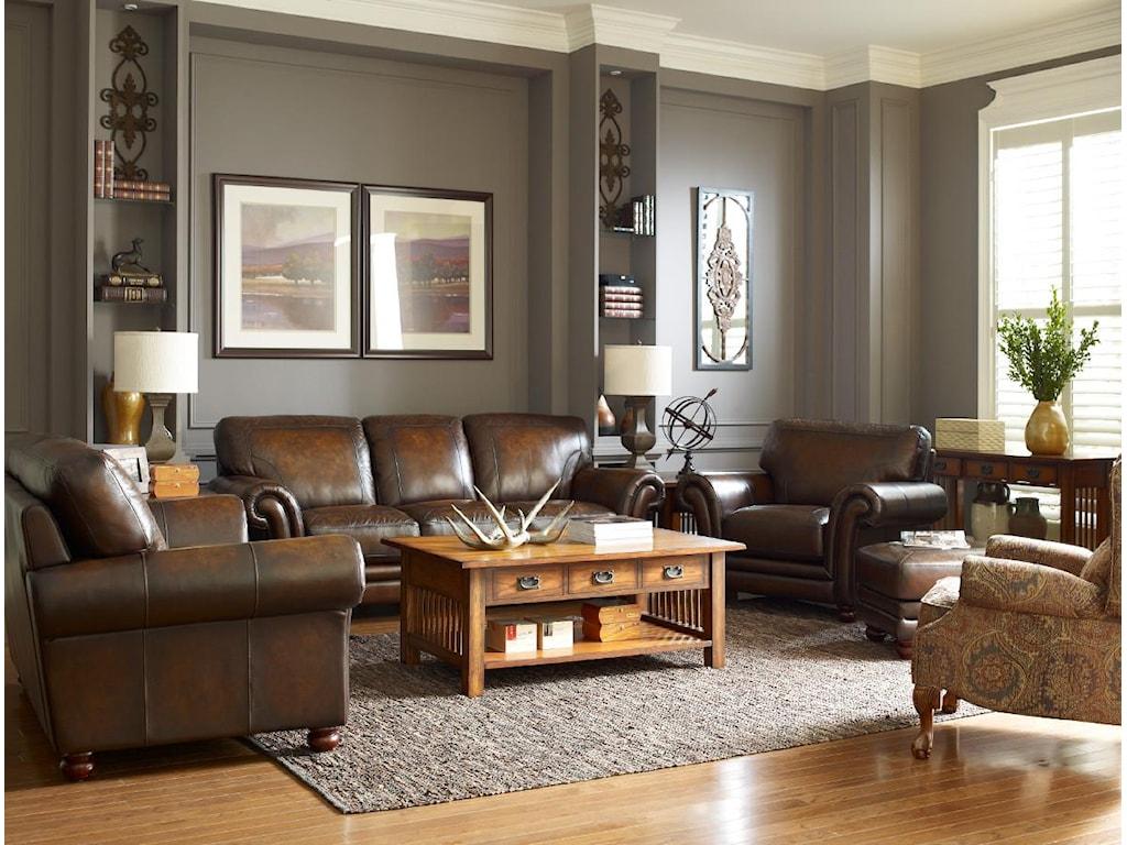 La Z Boy Living Room Set La Z Boy William Traditional Sofa With Loose Pillow Back Great