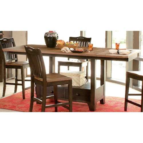 Morris Home Furnishings Grafton Dining Counter Table Top & Base