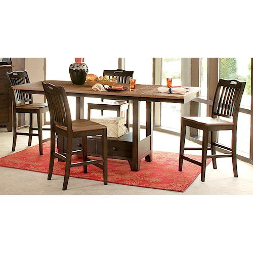 Morris Home Furnishings Grafton 5pc Dining Counter Set