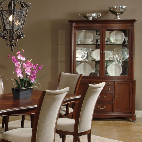 Morris Home Furnishings South Hampton Traditional China Cabinet