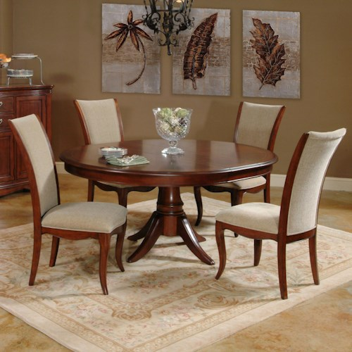 Morris Home Furnishings South Hampton 5 Piece Round Table and Chair Set