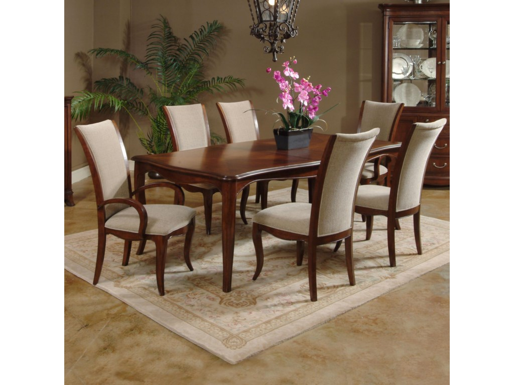 Shown with Side Chairs and Arm Chairs