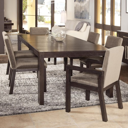 Morris Home Furnishings Metropolis 7 Piece Casual Dining Table