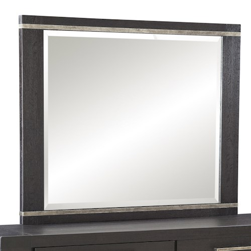 Morris Home Furnishings Metropolis Casual Square Mirror