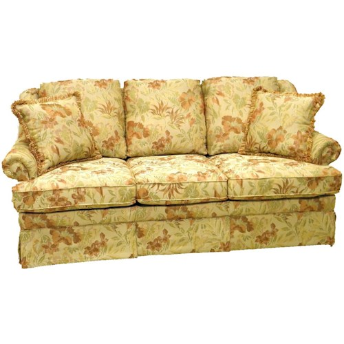 LaCrosse 489 Traditional Stationary Sofa with Rolled Arms