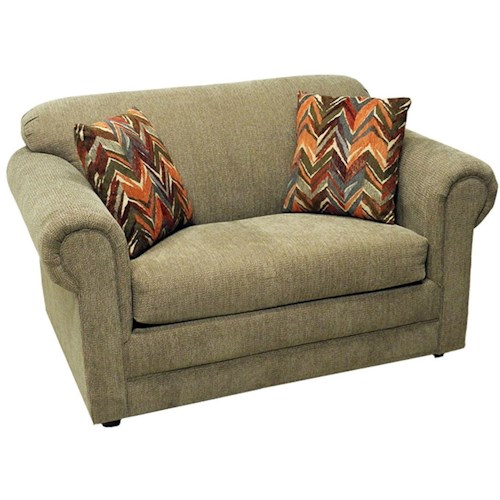 LaCrosse Hayden Twin Sofa Sleeper with Rolled Arms