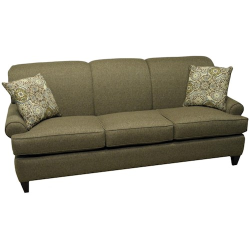 LaCrosse Sleeper Sofas  Augusta Queen Sleeper Sofa with Rolled Sock Arms