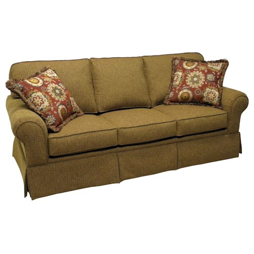 LaCrosse Sleeper Sofas  Traditional Styled Queen Size Sofa Sleeper with 7