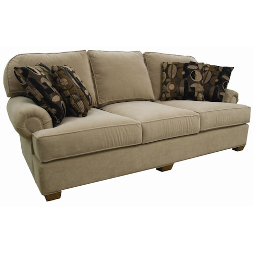 Lancer 48 Casual Sofa with Rolled Arms