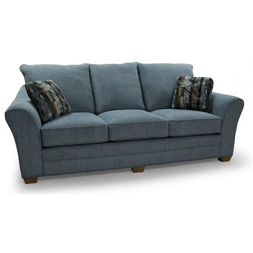 Lancer 90 Contemporary Sofa with Flared Arms