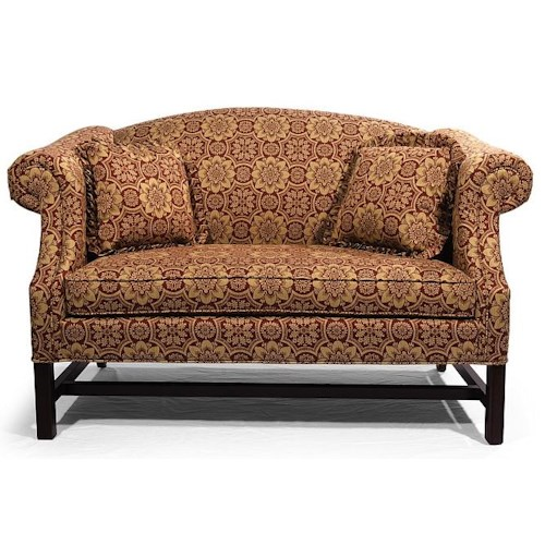 Lancer HomeSpun Love Seat with Camel Back