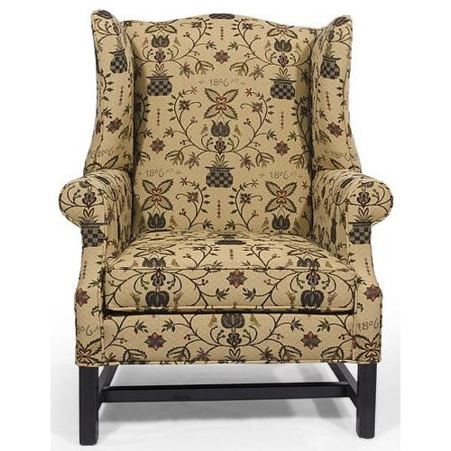 Lancer HomeSpun High Wing Back Chair with Rolled Arms