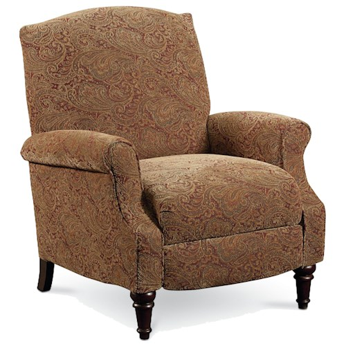 Lane Chloe Chloe Hi-Leg Recliner with Rolled Arms and Wing Back