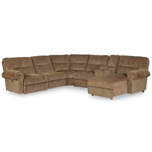 Lane Brandon Reclining Sectional with Power Chaise