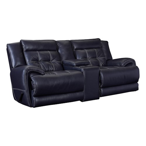 Lane Corsica Casual Reclining Rocking Console Loveseat
