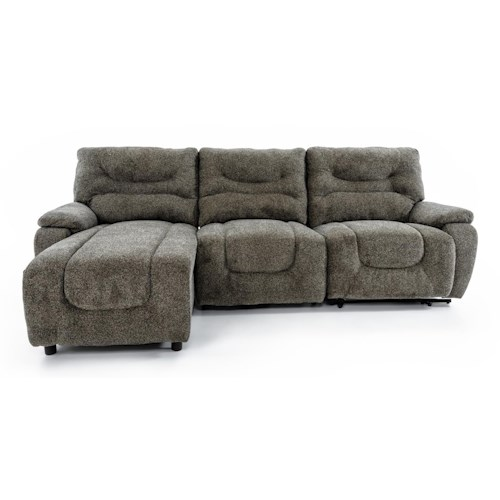 Lane Cruz 3 Piece Sectional with LAF Power Chaise