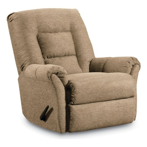 Lane Dooley Transitional Pad-Over-Chaise Rocker Recliner