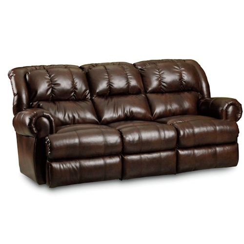 Lane Evans Power Double Reclining Sofa with Rolled Arms