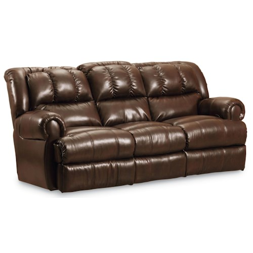 Lane Evans Double Reclining Sofa with Fold Down Center TrayTable