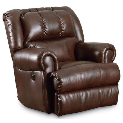 Lane Evans 323 Glider Recliner with Double-Padded Seat