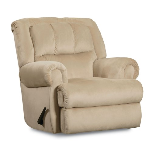 Lane Evans Rocker Recliner with Rolled Arms