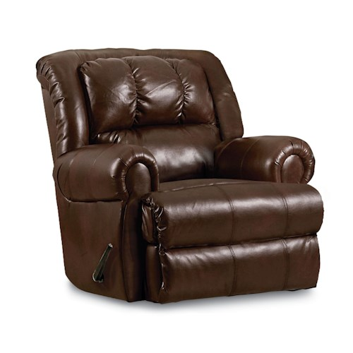 Lane Evans 323 Rocker Recliner with Rolled Arms