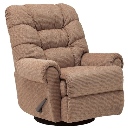 Lane Recliners Casual Styled Zip Rocker Recliner with Channeled Seat Back