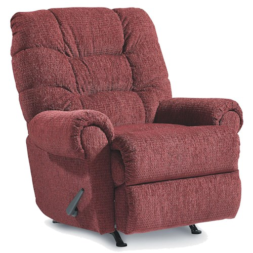 Lane Recliners Casual Styled Zip Swivel Recliner with Channeled Seat Back