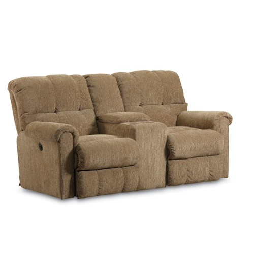 Lane Griffin Casual Griffin Double Reclining Loveseat with Drink Console