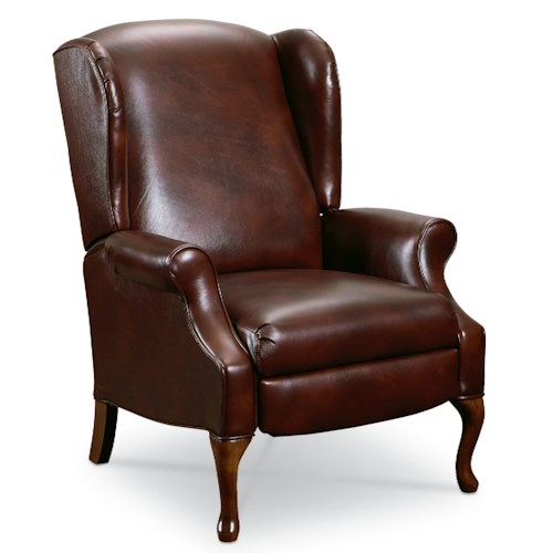 Lane Hampton Traditional High Leg Recliner Chair with Queen Anne Legs