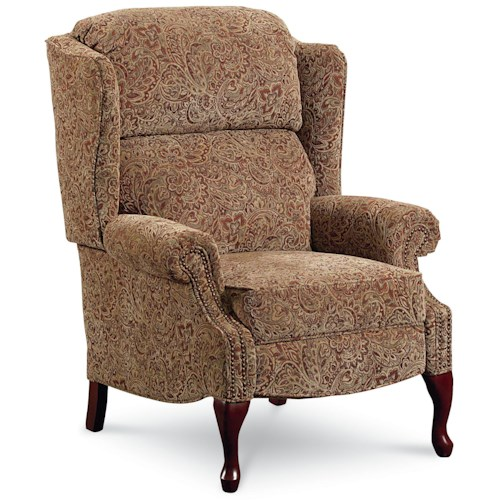 Lane Hi Leg Recliners Savannah High Leg Wing Back Recliner