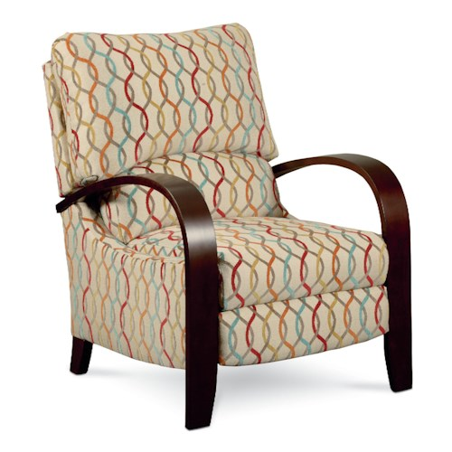 Lane Hileg - Lane Contemporary Julia Hileg Recliner with Bentwood Arms