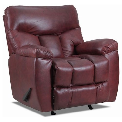 Lane Houston Glider Recliner with Full Chaise Footrest