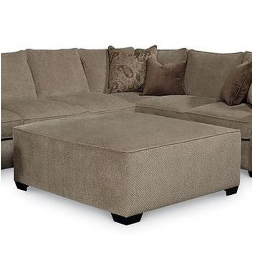 Lane Jonah Casual Ottoman with Tapered Block Feet