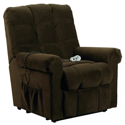 Lane Lift Chairs Casual Styled Lift Recliner with Multi-Channeled Back