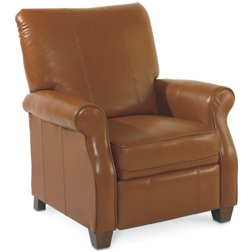 Lane Low Leg Recliners Casual Jill Loleg Recliner with Rolled Arms and Exposed Wood Feet
