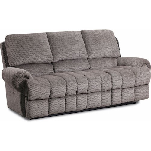 Lane McArthur Powerized Double Reclining Sofa with Nail Head Trim