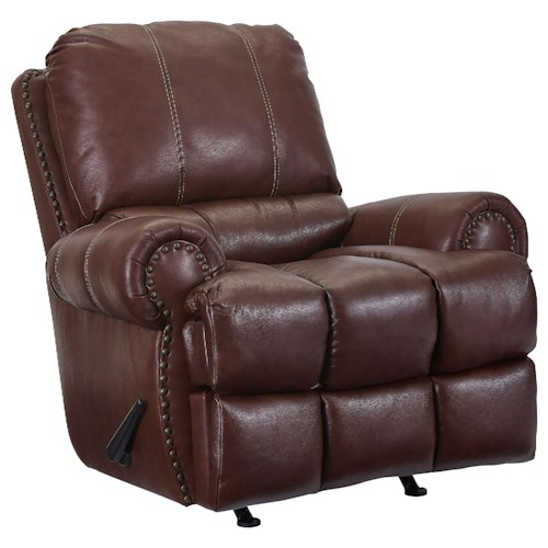 Lane McArthur Rocker Recliner with Nail Head Trim