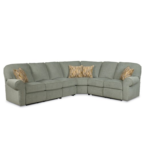 Lane Megan Powerized 4 Piece Reclining Sectional Sofa