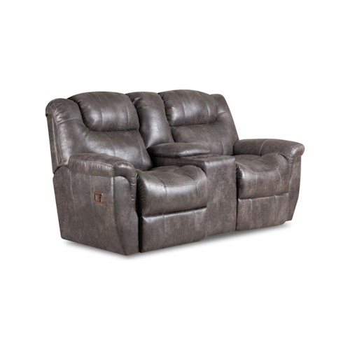 Lane Montgomery Double Reclining Console Loveseat with Storage