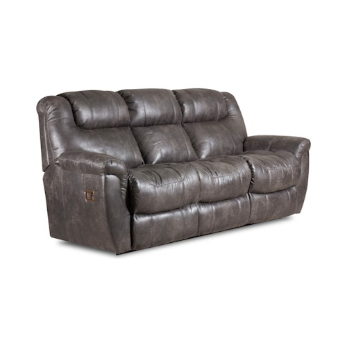 Lane Montgomery Double Reclining Sofa with Drop Down Table and Massage